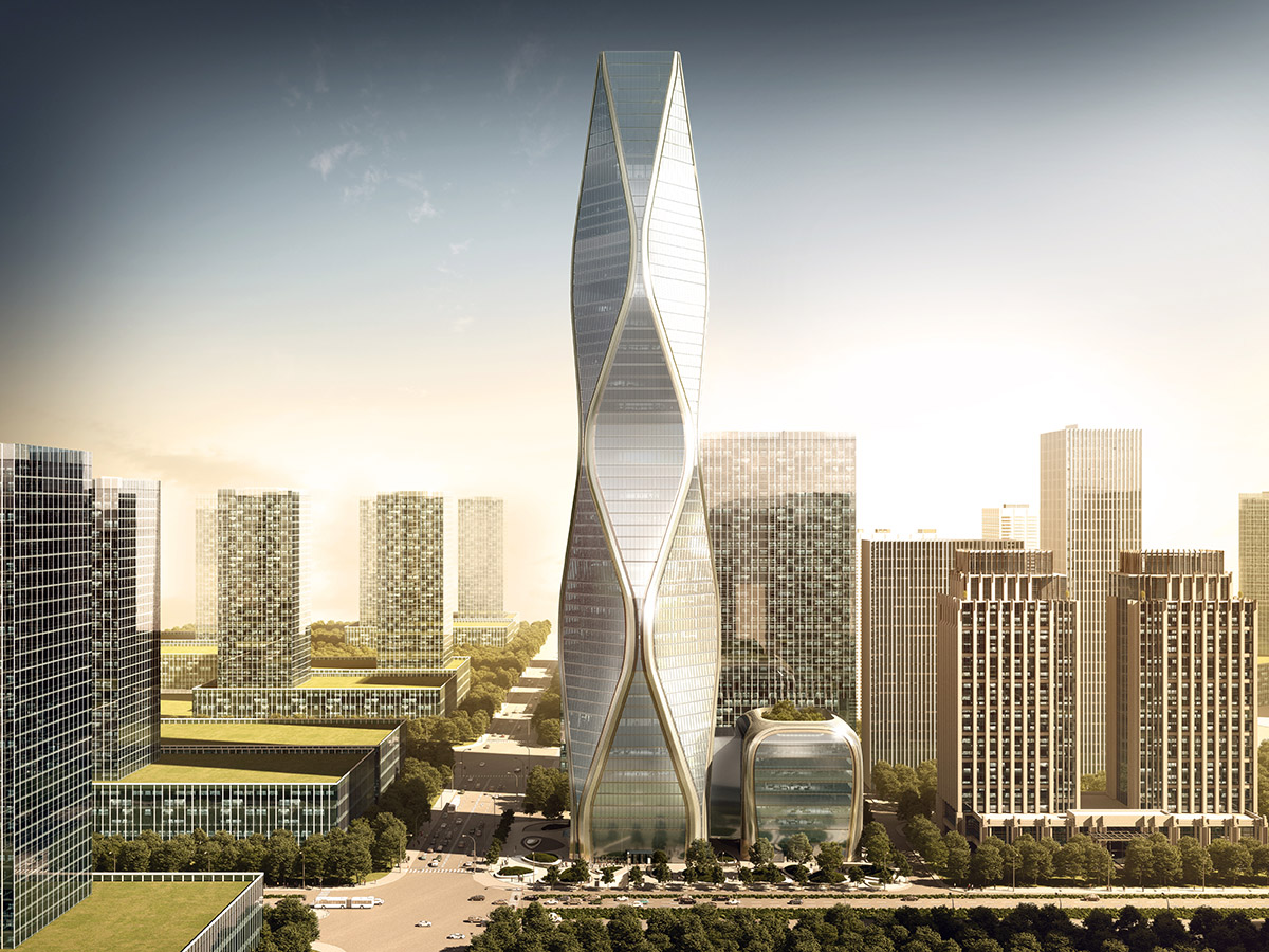 som reveals design for hangzhou wangchao center