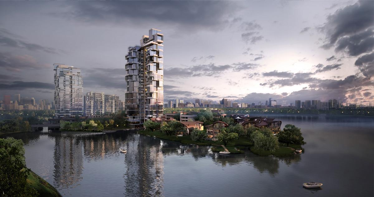 一个人的团队_成都麓湖水晶之城(已建成) - 品素品设计